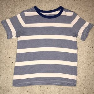 American Eagle Blue & White Striped Tee